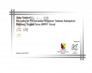 Sampul Buku Panduan MPKT Desa